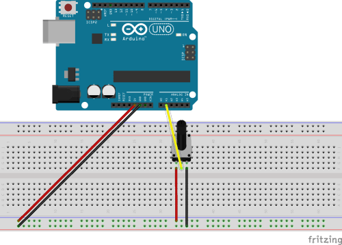 small resolution of problem reading in arduino serial port with 5k potentiometer single potentiometer circuit