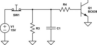 NPN transistor for switching electromagnetic relay