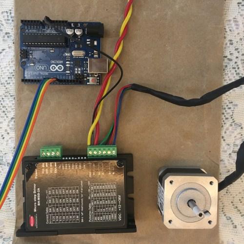 small resolution of existing arduino uno nema 17 motor and drive setup