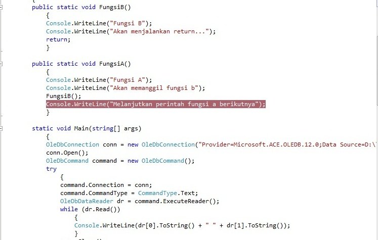 Format Code MS Visual Studio for C# Console project Not