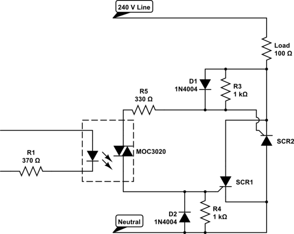 Is this a good inverse parallel SCR drive circuit