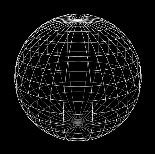 html5 canvas wireframe sphere