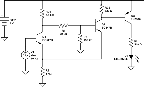 Schmitt trigger, what does the voltage divider at the base