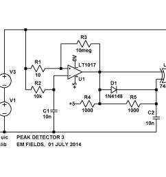 peak detector simple circuit diagram wiring diagram today peak detector simple circuit diagram [ 1276 x 867 Pixel ]