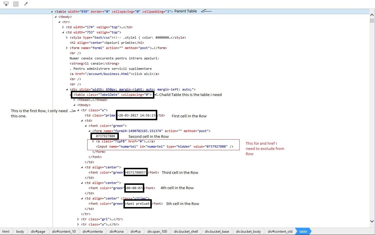 Setting A Web Table Sc R By Msxml2rverxml 6 0 On