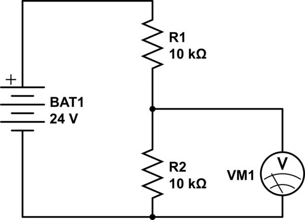 Can I apply a 24v DC current to an analog voltmeter