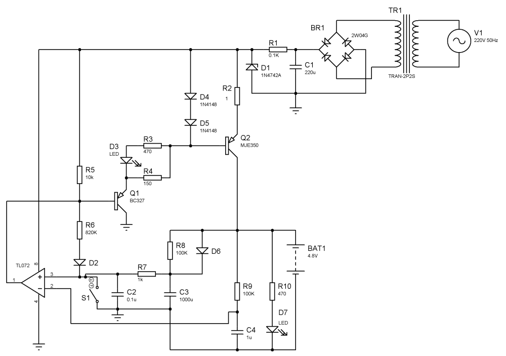 medium resolution of nimh battery charger using discrete elements