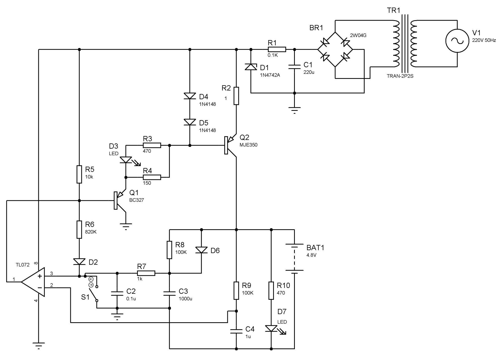 hight resolution of nimh battery charger using discrete elements