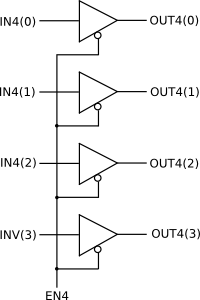How do I implement a tri-state buffer for a vector in VHDL