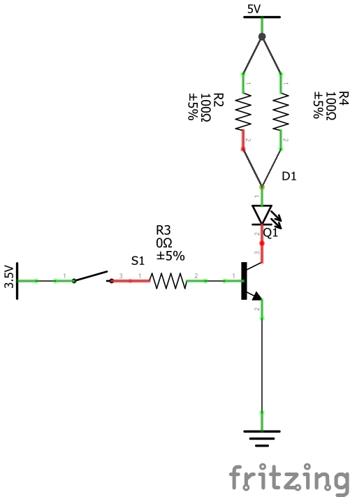 Resistor Values to switch a 100ma led with a on a 5v power