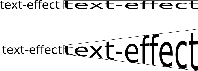 vectorized text effects transformations