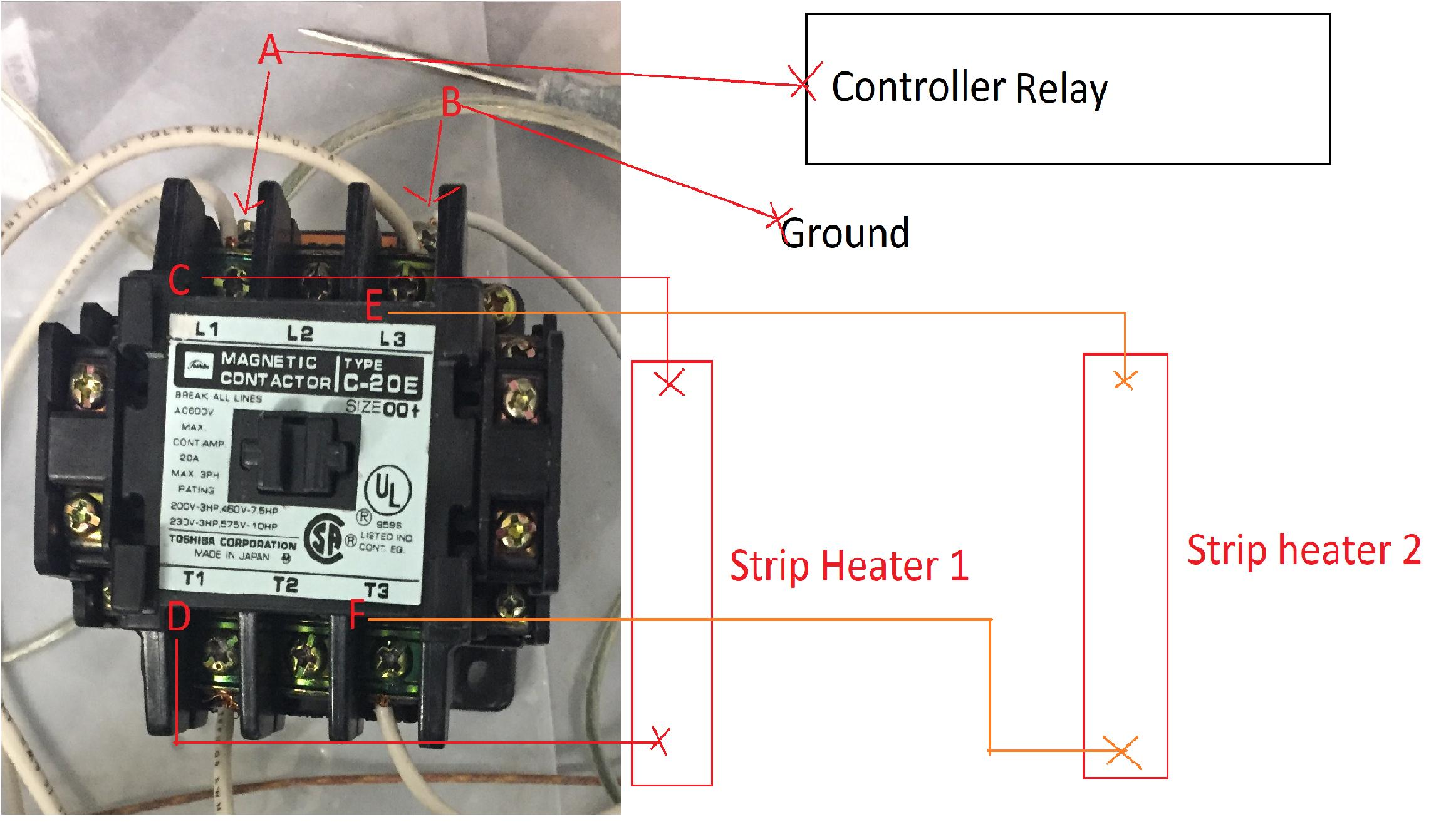 Motor Single Phase Contactor Wiring Diagrams Together With Three Phase