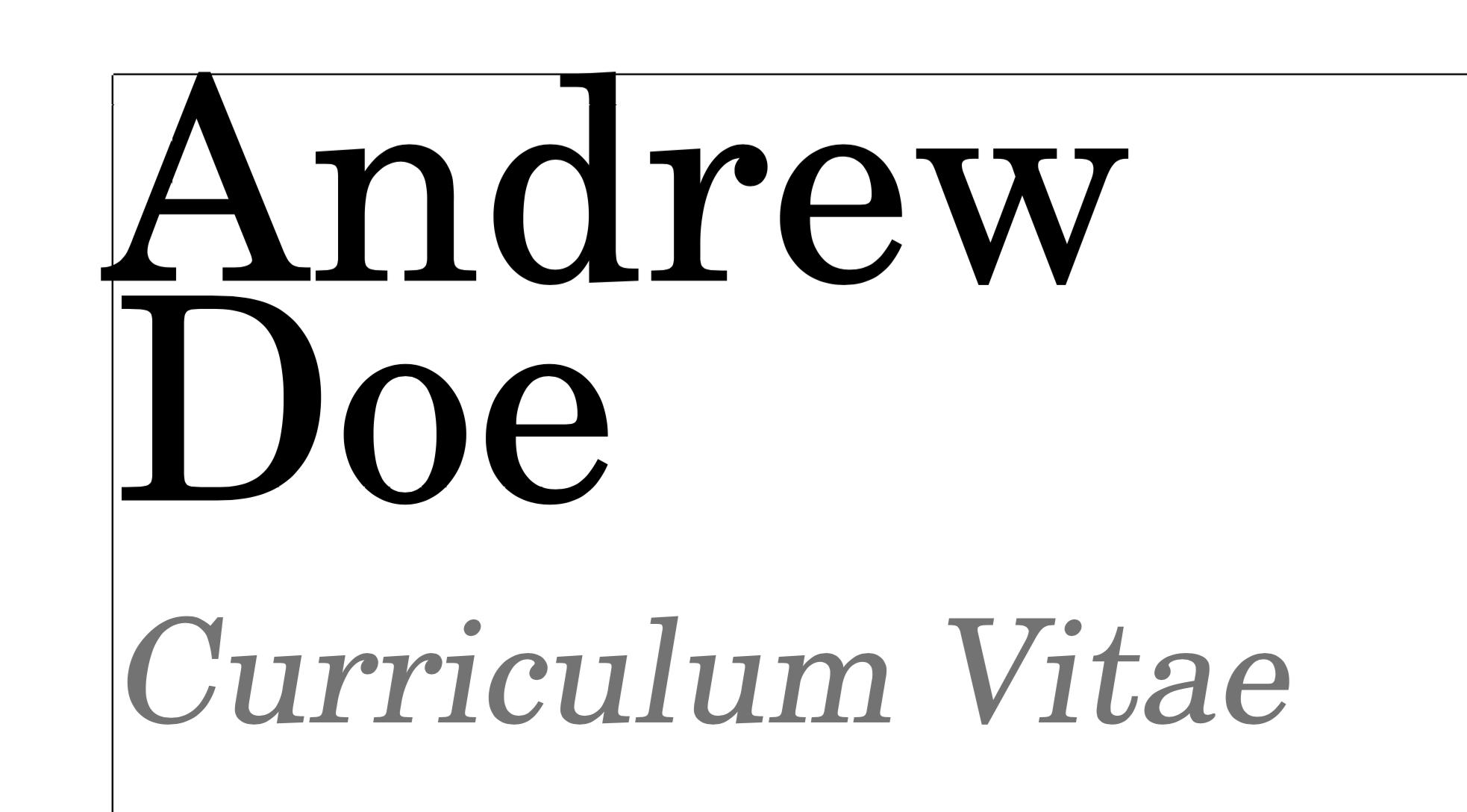 line spacing in modern cv