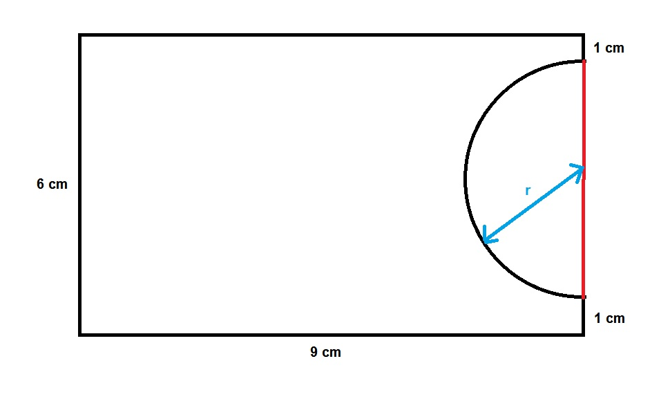 What is the perimeter and area for this simple shape