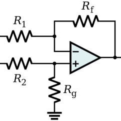 Circuit Diagram Of Non Inverting Amplifier Parts A Comet Op Amp Differential Input To Single Ended Output With