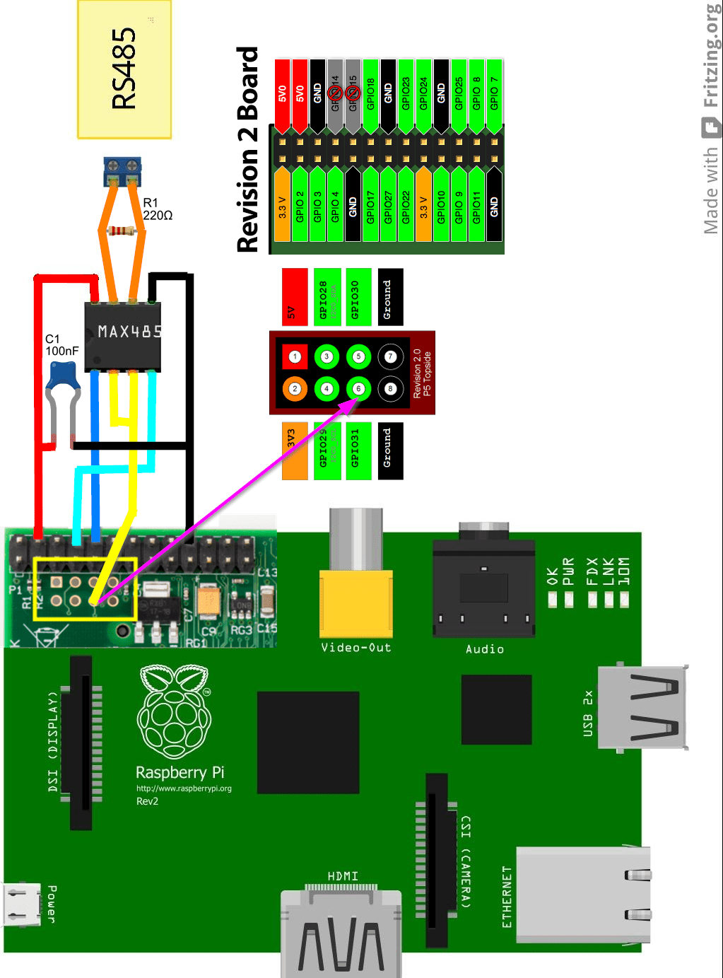 Network Connection Wiring Diagram Raspbian Rs 485 And Raspberry Pi Raspberry Pi Stack