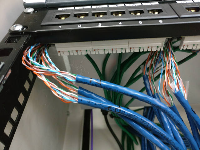 cat6 network cable wiring diagram 2001 ford f150 lariat radio networking - requirements for correct termination of in patch panel server fault