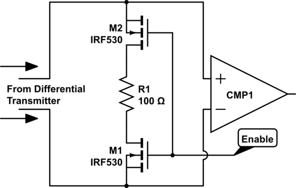Use transistor to connect terminating resistor for