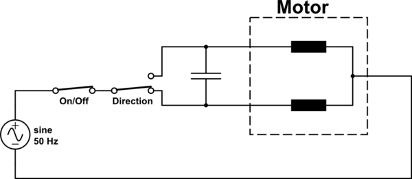 reversing starter wiring diagram gas furnace control board ac the direction of an induction motor electrical schematic