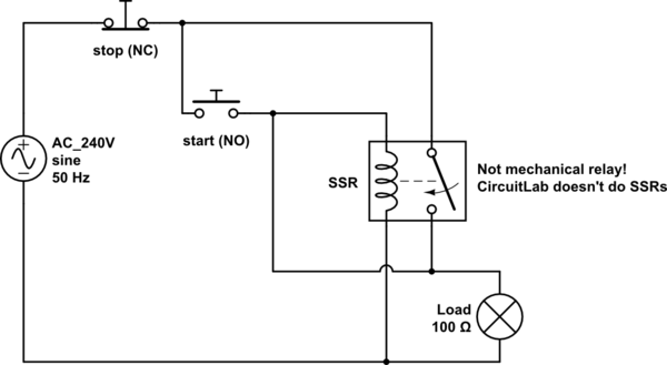 start stop wiring diagram fujitsu ten isuzu switches will this ac ssr work for a safety switch schematic