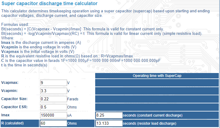 Calculating The Right Size For Super Capacitor Electrical