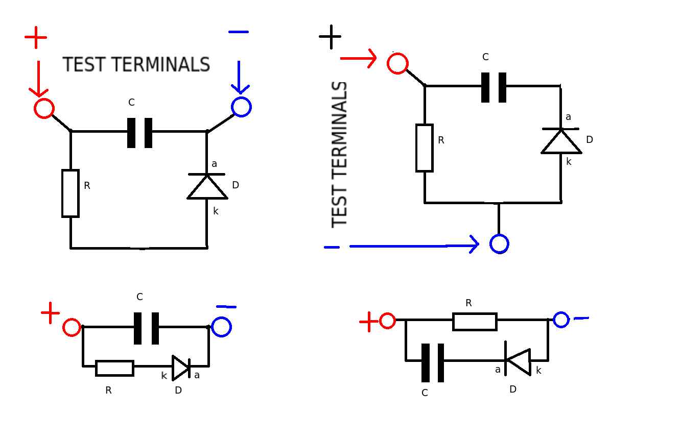 how to test a capacitor in a circuit