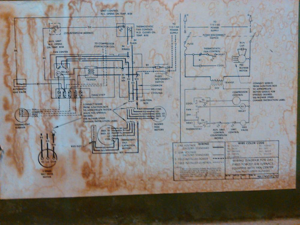 medium resolution of hvac replace old furnace blower motor with a new one but the wires furnace fan center wiring diagram furnace fan wiring diagram