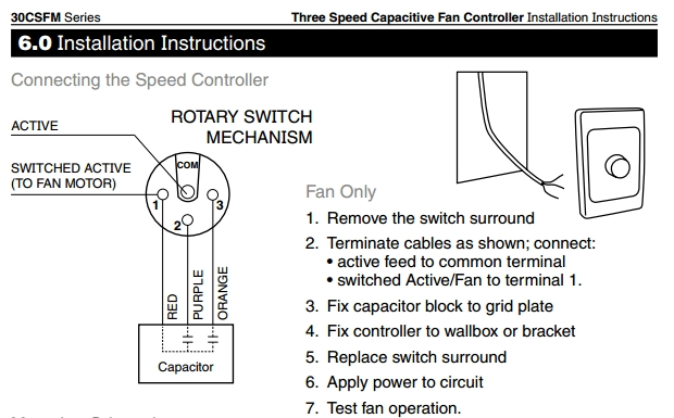 3 Speed Switch Wiring Diagram Wiring Diagram For Ceiling Fan
