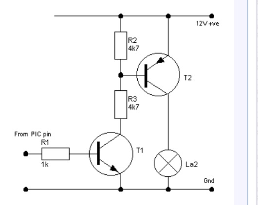 High side transistor switch with 9V LED driver