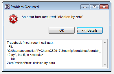 """Detailed error for """"division by zero"""""""