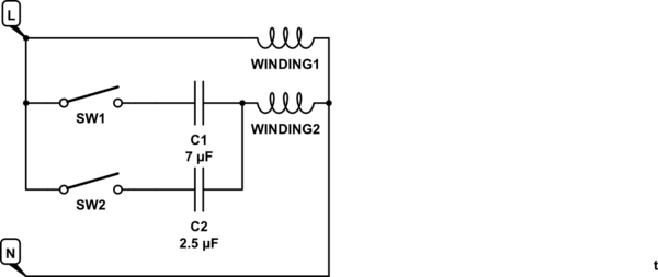 ceiling fan motor capacitor wiring diagram trailer 5 core permanent split free for you ac speed control on a induction circuit baldor