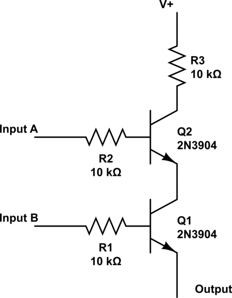 Is this NPN transistor AND logic gate practical