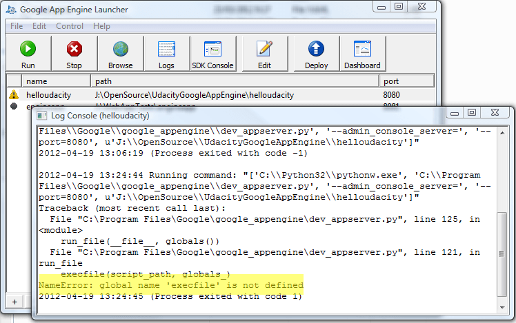 Nameerror Global Name Execfile Is Not Defined Trying To Run An
