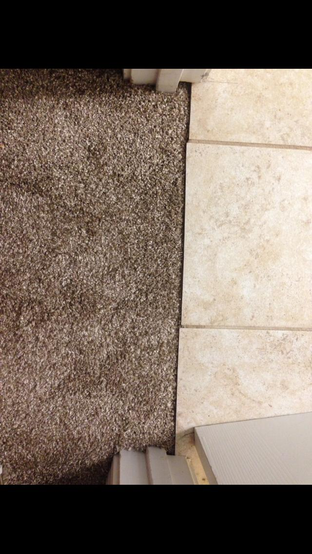 transition from tile to carpet be