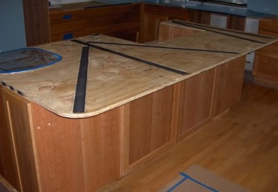 How To Install Supports For An Overhang Or Kitchen Island