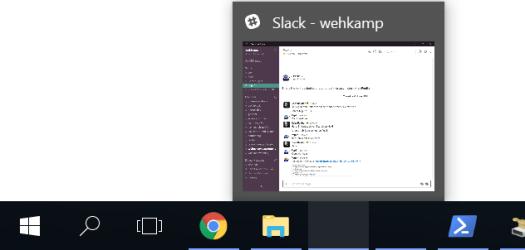 Slack Icon missing on taskbar