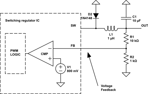Step-Down/Buck-Converter: How to replace feedback voltage