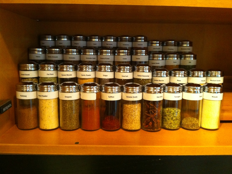 Storage Method Recommendations For Spice Organization