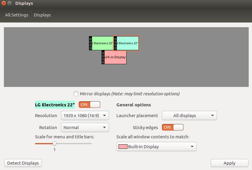 VirtualBox 6.0.14 multiple screens GUI issues on Ubuntu 16