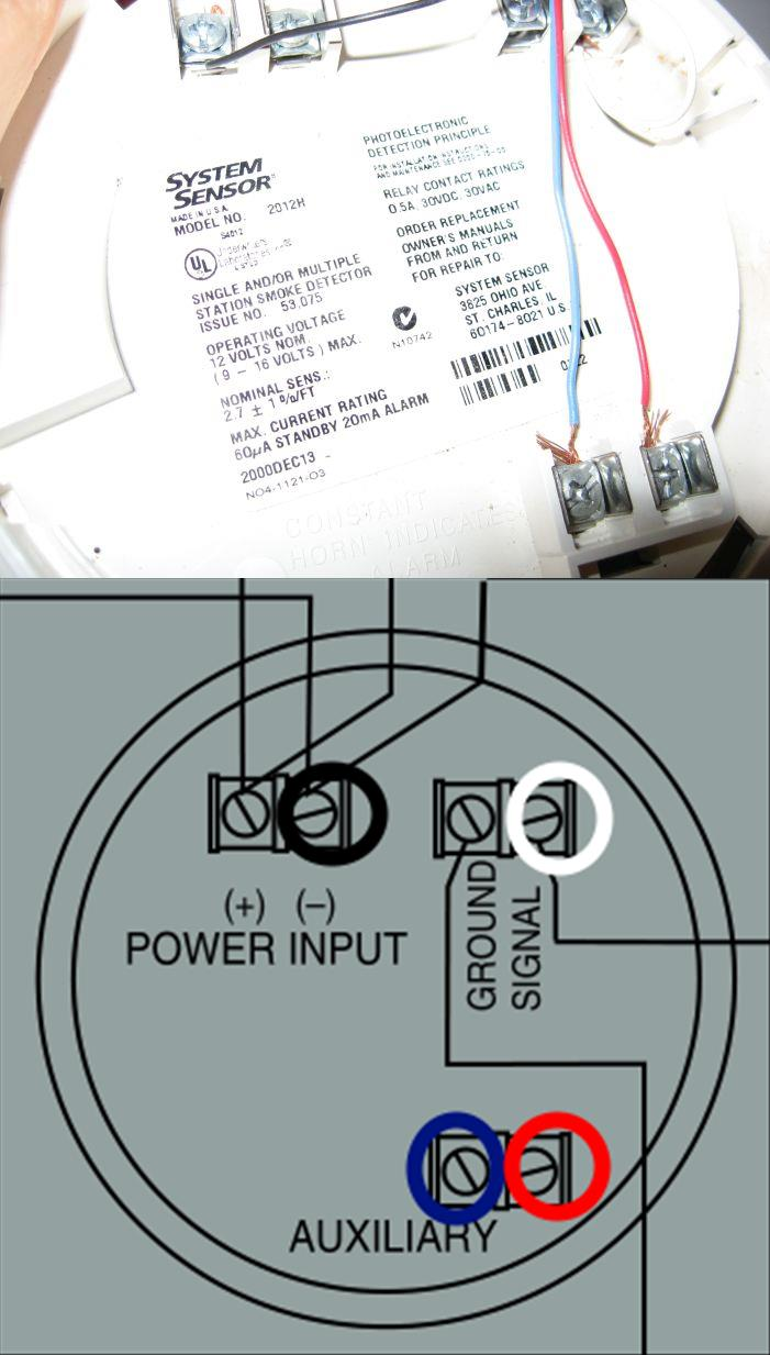 wiring diagram for fire alarm system 2008 gmc sierra electrical need help with correct when replacing a old smoke detector