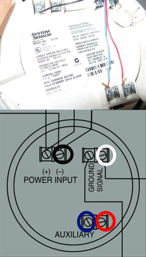 small resolution of electrical need help with correct wiring when replacing a old smoke detectors from 1900 old smoke detectors wiring diagram