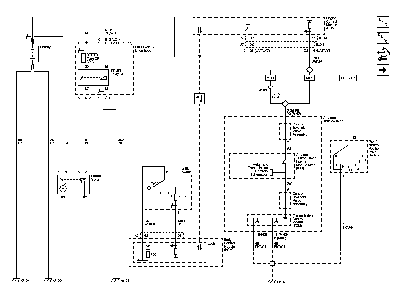 chevrolet starter diagram standard trailer wiring electrical 3909 chevy malibu no crank start heavy