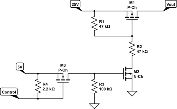circuitlab mosfet level shifter