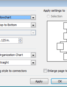 Visio shape menu configure layout dialog also change default spacing in org chart localisation rh superuser