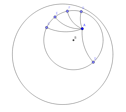 Construction of Hyperbolic Circles With a Given Radius