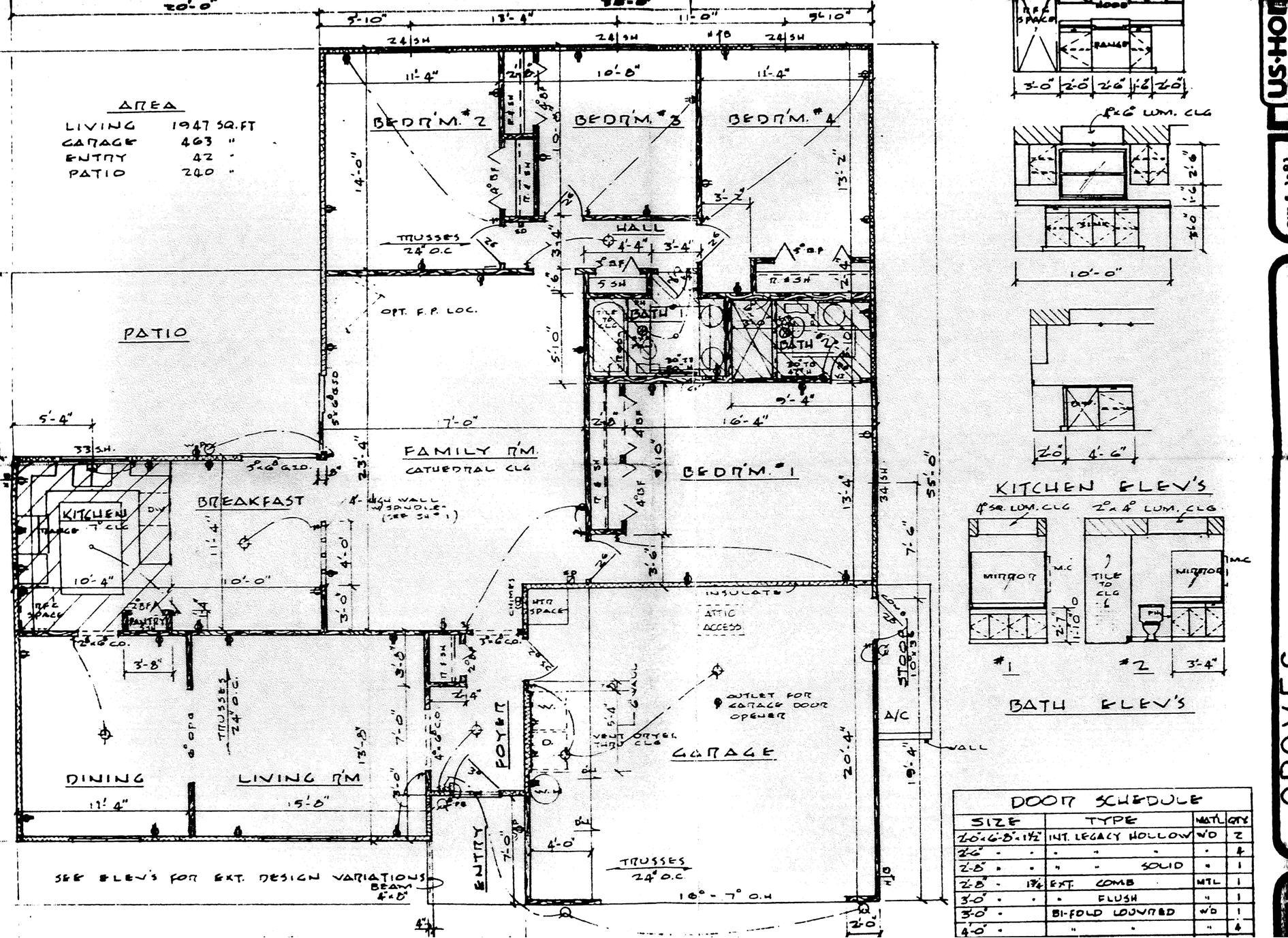 hight resolution of blueprint foundation