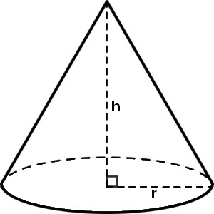 How to draw a simple cone with height and radius with TikZ