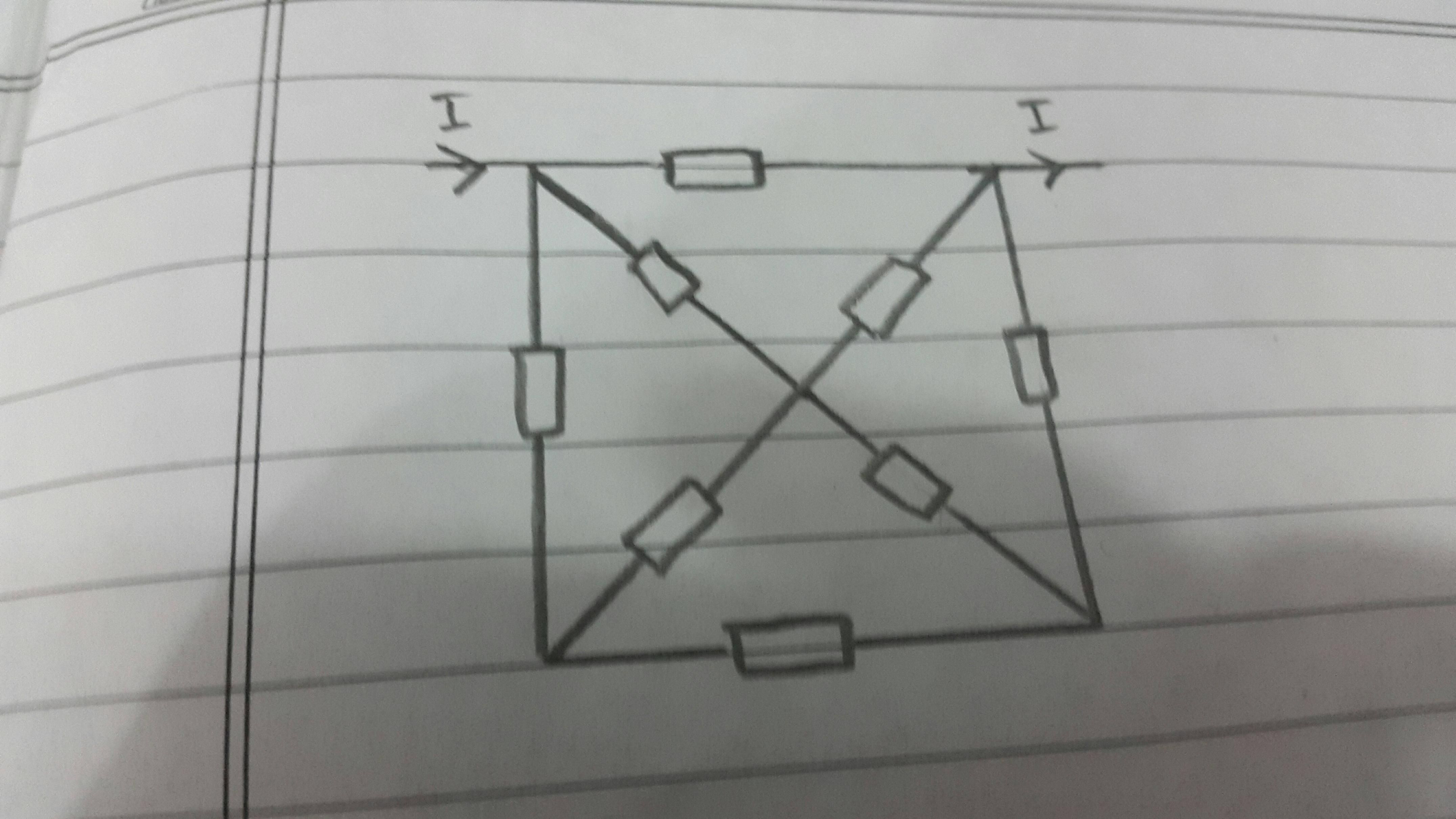 How Does Someone Calculate The Total Resistance Of Such A Circuit