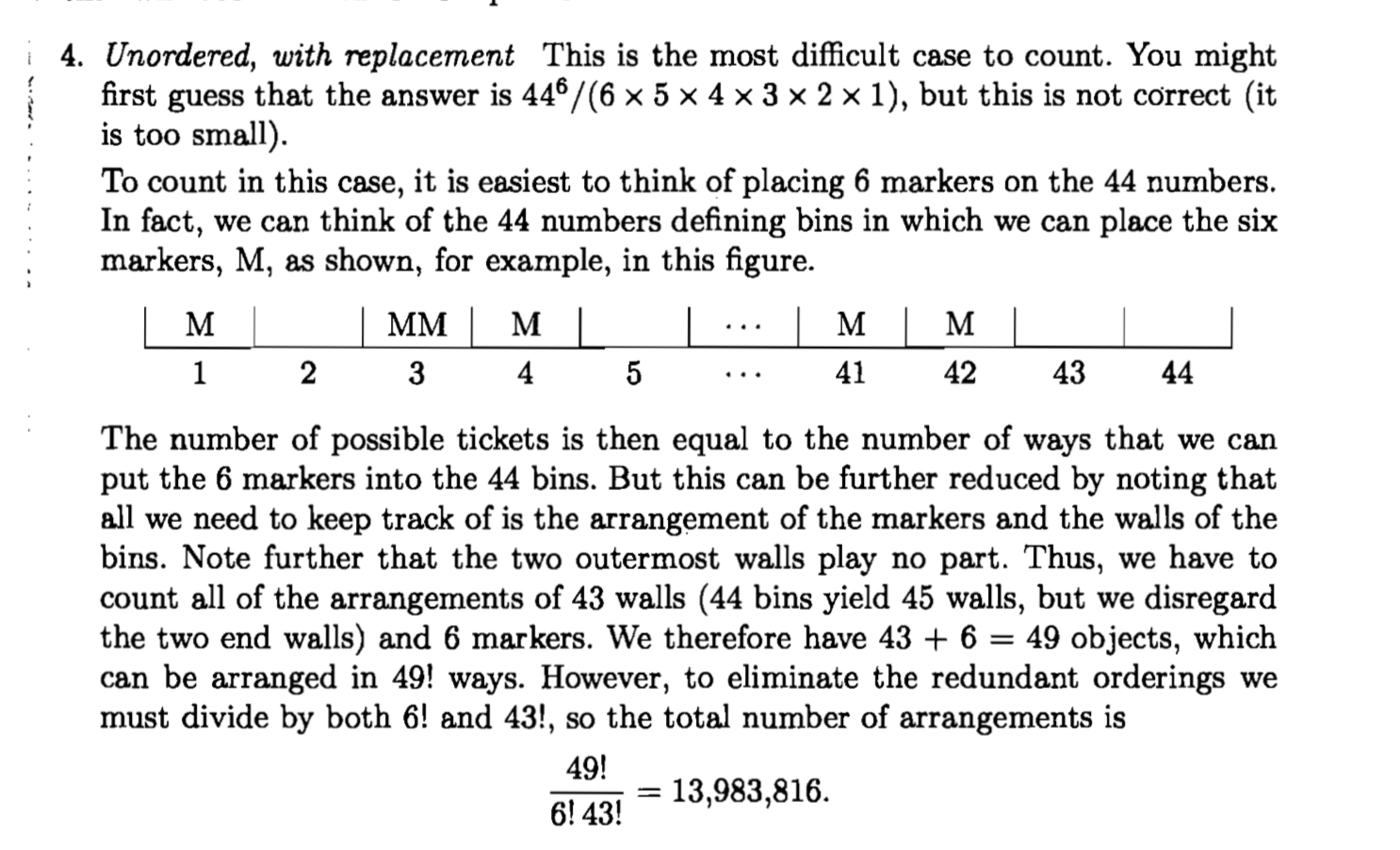 Probability Unordered With Replacement Question On