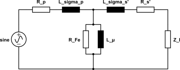 Power factor of a transformer (does it have anything to do